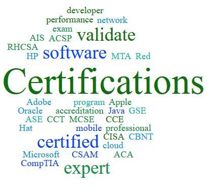 List of Professional Certifications By Industry